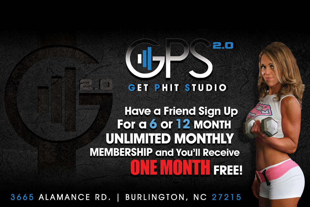 Have a friend sign up for a 6 or 12 month unlimited monthly membership and you'll receive one month free!